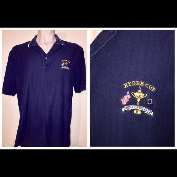 641f493e8 Ralph Lauren Shirts | Vintage Polo Golf Ryder Cup Shirt Navy Blue ...